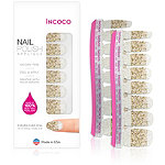 Incoco Nail Polish Appliqués - Nail Art Designs Eye Candy (gold glitter over clear)