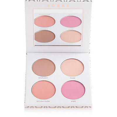 Lorac Cue the Confetti Highlighter %26 Blush Palette with Brush