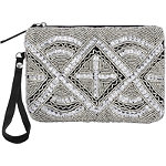 Black and Silver Beaded Wristlet