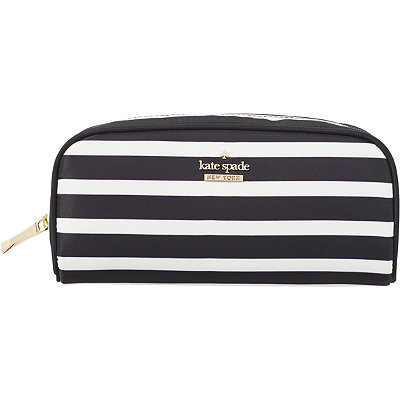 Kate Spade New York Classic Nylon Berrie Striped Cosmetic Case