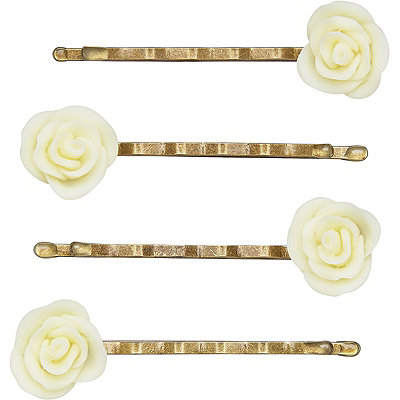 The Vintage Cosmetic CompanySmall Cream Flower Bobby Pins