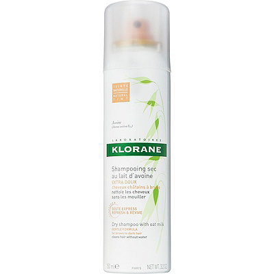 Klorane Dry Shampoo with Oat Milk for Brown to Dark Hair