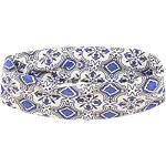 Blue Combo Filigree Head Wrap