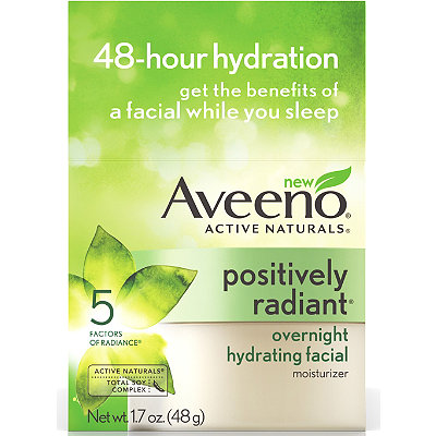 Aveeno Positively Radiant Overnight Hydrating Facial