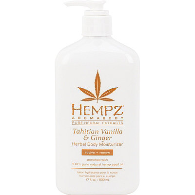 HempzAromabody Tahitian Vanilla & Ginger Herbal Body Moisturizer