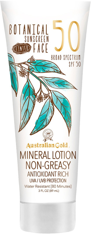 Botanical Spf 50 Tinted Face Lotion by Australian Gold