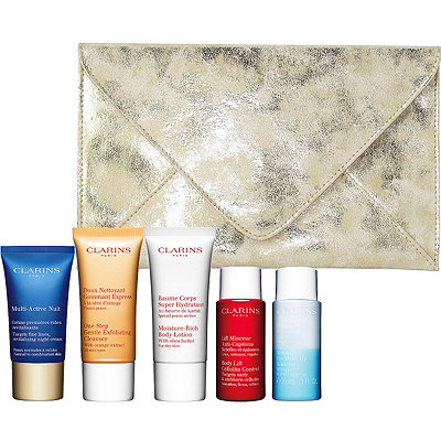 Receive a free 6-piece bonus gift with your $65 Clarins purchase