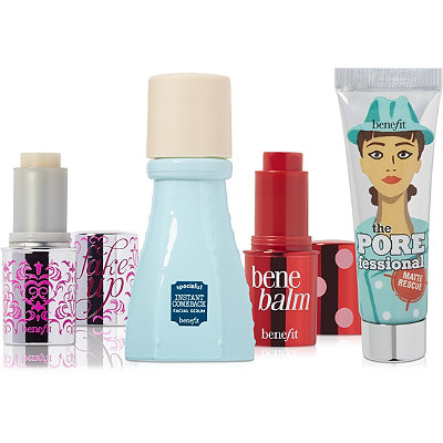 Receive a free 4-piece bonus gift with your $45 Benefit Cosmetics purchase