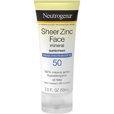 Neutrogena Sheer Zinc Face Lotion SPF 50