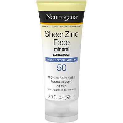 NeutrogenaSheer Zinc Face Lotion SPF 50
