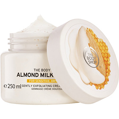 The Body Shop Almond Milk %26 Honey Gently Exfoliating Cream Scrub