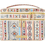 Vibrant Tribal Double Zip Train Case