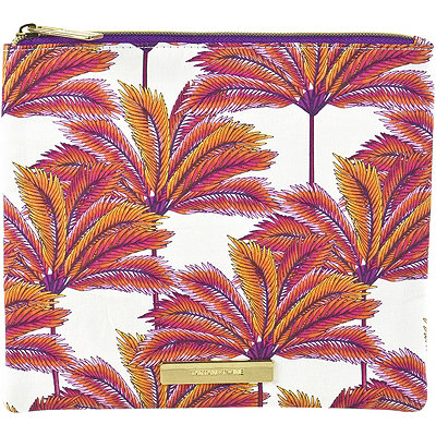 Tartan + TwineCoral Palm Clutch Print