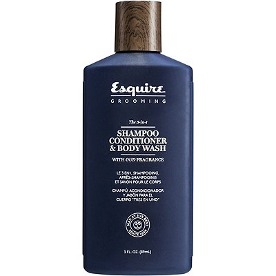 Esquire GroomingTravel Size The 3-in-1 Shampoo, Conditioner & Body Wash