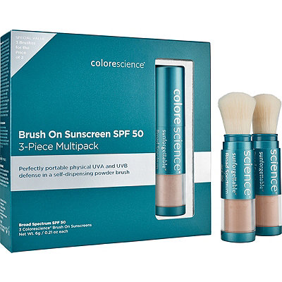 ColorescienceOnline Only Sunforgettable Brush-on Sunscreen 3-Piece Multipack SPF 50