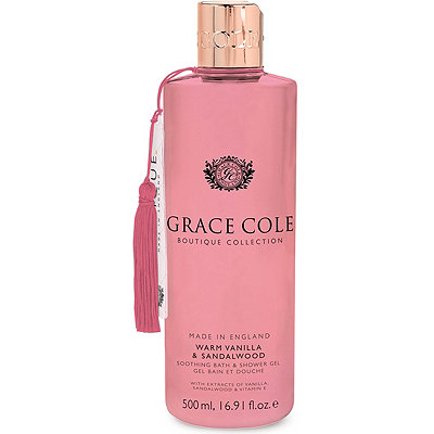 Grace Cole Warm Vanilla %26 Sandalwood Bath %26 Shower Gel