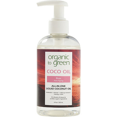 Organic to Green Online Only Rose Coconut Oil for Face - Anti-Aging