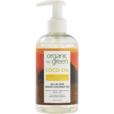Organic to Green Online Only Lemon Coconut Oil for Face - Purifying for Oily Skin
