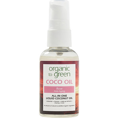 Organic to Green Online Only Travel Size Rose Coconut Oil for Face - Anti-Aging