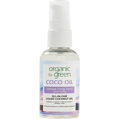 Organic to Green Online Only Travel Size Jasmine Ylang Ylang Coconut Oil for Face - Moisturizing