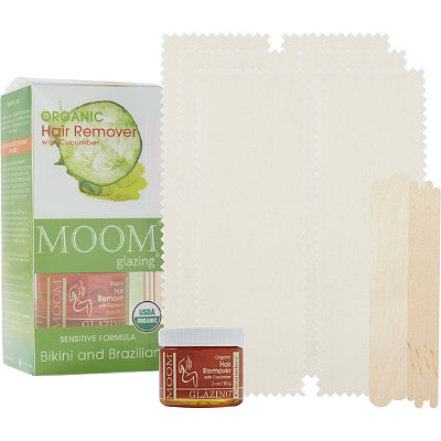 Moom Organic Hair removal Kit with Cucumber for Bikini and Brazilian