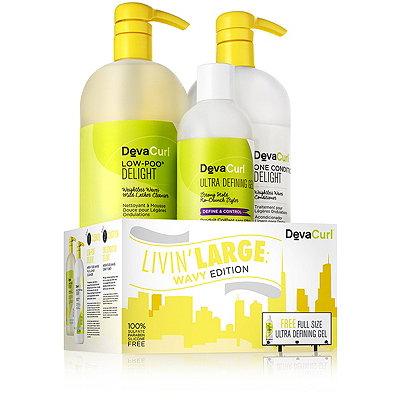 DevaCurlOnline Only Livin%27 Large%3A Wavy Edition Liter Duo