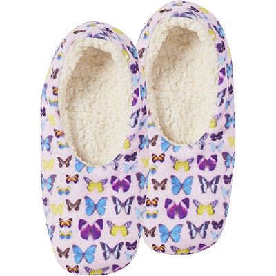 Capelli New YorkMulti-Color Butterfly Slipper Socks