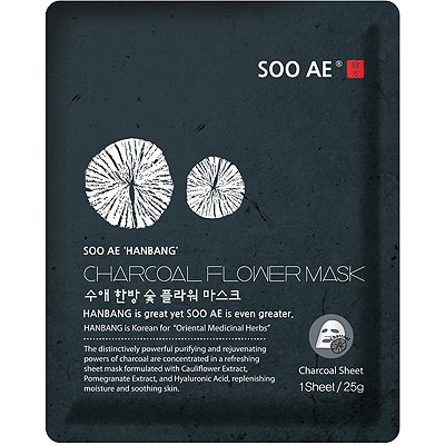 SOO AEOnline Only Hanbang Charcoal Flower Mask