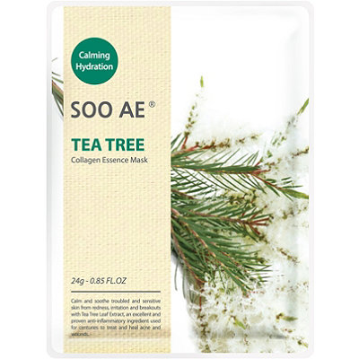 SOO AE Online Only Tea Tree Collagen Essence Mask