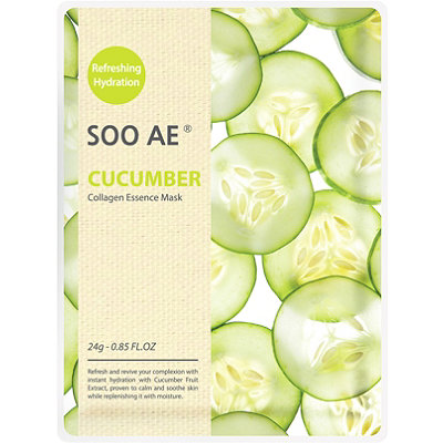 SOO AE Online Only Cucumber Collagen Essence Mask