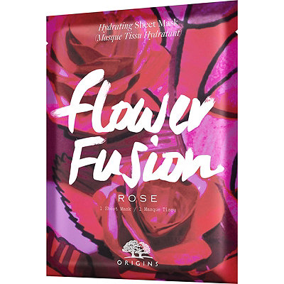 Origins Online Only Flower Fusion Rose Hydrating Sheet Mask