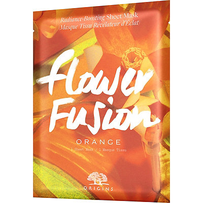 Online Only Flower Fusion Orange Radiance-Boosting Sheet Mask
