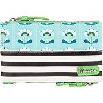 Petal Stripes Double Zip Mini Case