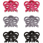 Bow Style Claw Clips Bright Pink
