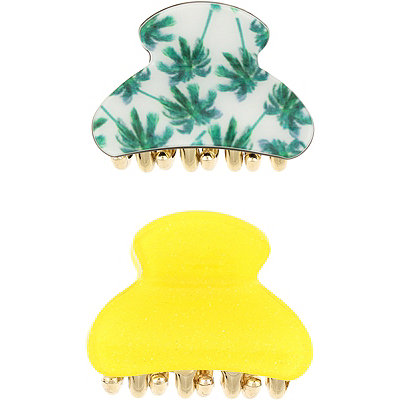 Capelli New York Palm Tree And Glitter Claw Clips