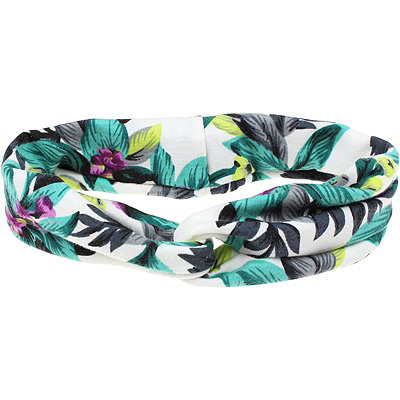 Capelli New YorkTropical Printed Twist Turquoise Head Wrap