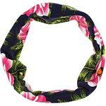Hibiscus Printed Navy Head Wrap