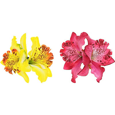 Capelli New York Tiger Lily Flower Clips
