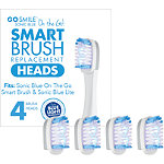 Go Smile Online Only On The Go Sonic Blue Replacement Brush Heads