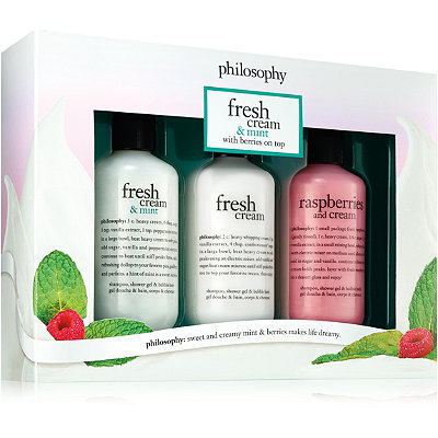 PhilosophyFresh Cream %26 Mint with Berries On Top Trio