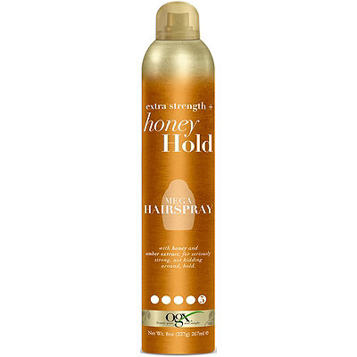 OGXExtra Strength + Honey Hold Mega Hairspray