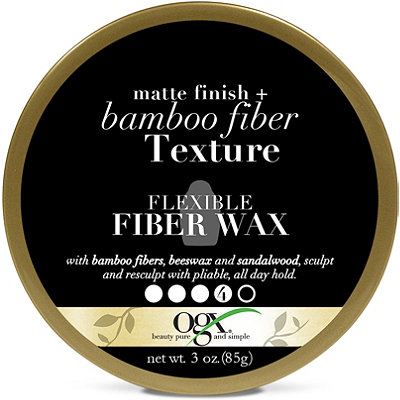 OGXMatte Finish +Bamboo Fiber Texture Flexible Fiber Wax