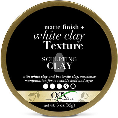 OGX Matte Finish %2B White Clay%0ATexture Sculpting Clay