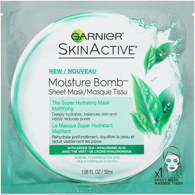Garnier Online Only SkinActive Moisture Bomb The Super Hydrating Sheet Mask Mattifying