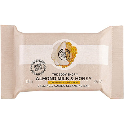 The Body Shop Online Only Almond Milk %26 Honey Soothing %26 Caring Cleansing Bar