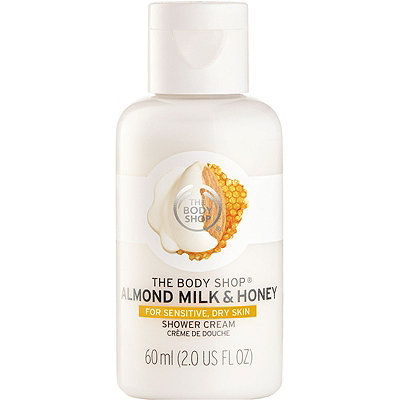The Body Shop Online Only Almond Milk %26 Honey Soothing %26 Caring Shower Cream