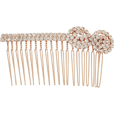 Elle Rose Gold Stone Side Comb