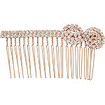 Rose Gold Stone Side Comb