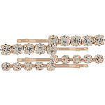 Rose Gold Rhinestone Bobby Pins 4 pk