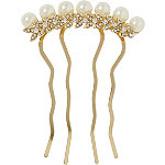 Elle Gold Pearl And Stone Side Comb